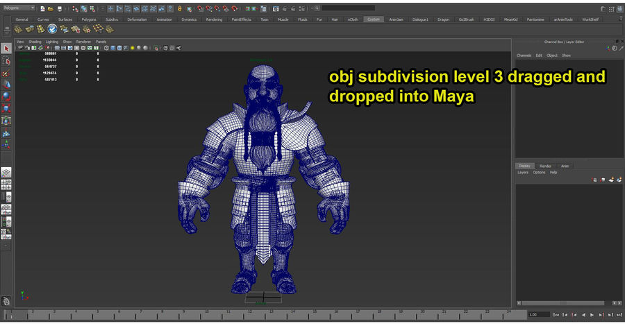 Dwarf Knight D2K3 royalty-free 3d model - Preview no. 46