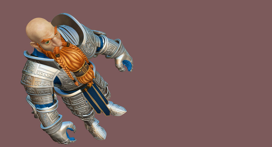 Dwarf Knight D2K3 royalty-free 3d model - Preview no. 23