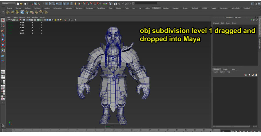 Dwarf Knight D2K3 royalty-free 3d model - Preview no. 44