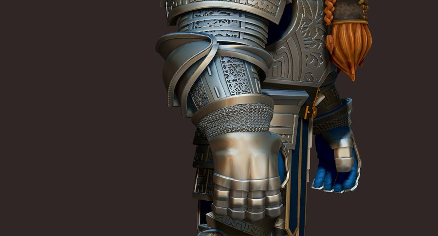 Dwarf Knight D2K3 royalty-free 3d model - Preview no. 7
