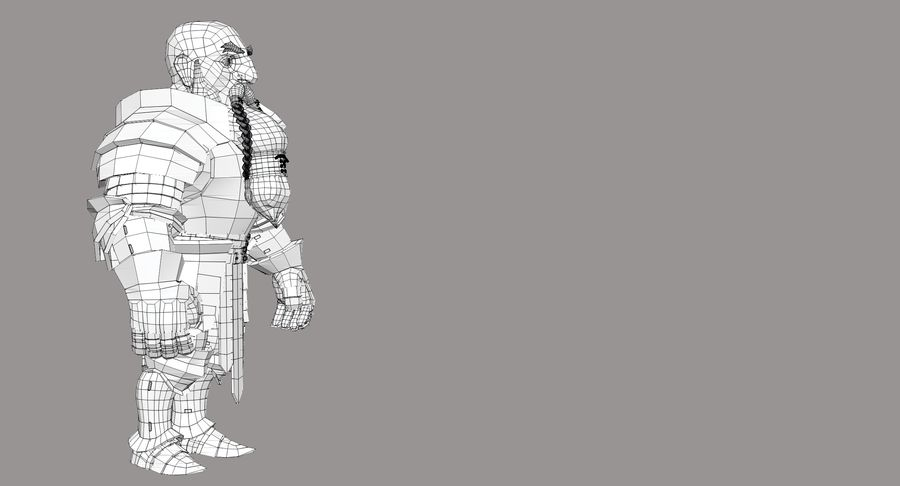 Dwarf Knight D2K3 royalty-free 3d model - Preview no. 26