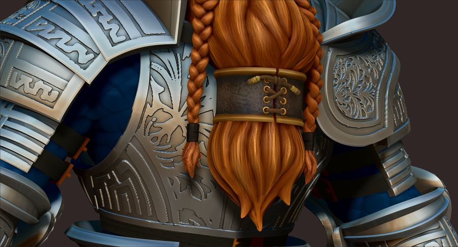 Dwarf Knight D2K3 royalty-free 3d model - Preview no. 14