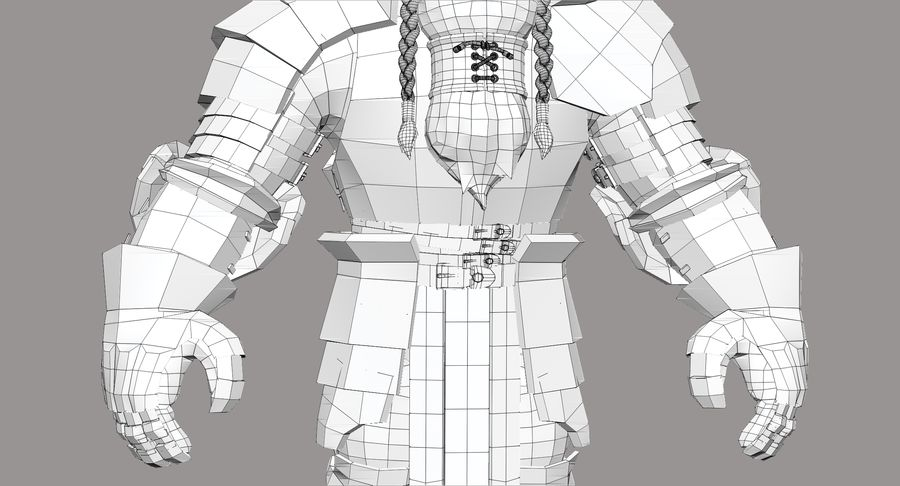 Dwarf Knight D2K3 royalty-free 3d model - Preview no. 28