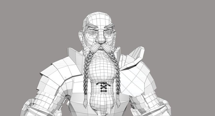 Dwarf Knight D2K3 royalty-free 3d model - Preview no. 27