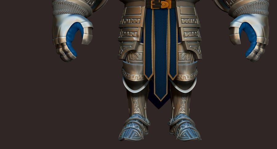 Dwarf Knight D2K3 royalty-free 3d model - Preview no. 5