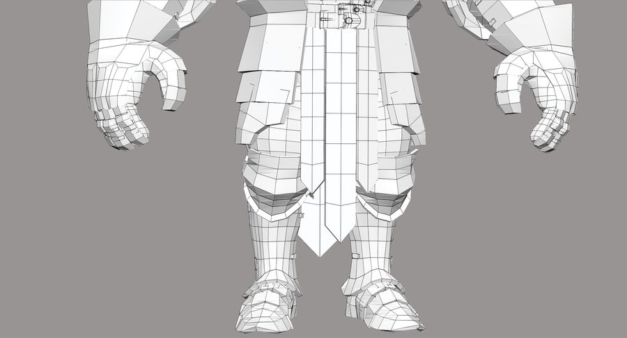 Dwarf Knight D2K3 royalty-free 3d model - Preview no. 29