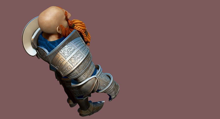 Dwarf Knight D2K3 royalty-free 3d model - Preview no. 22