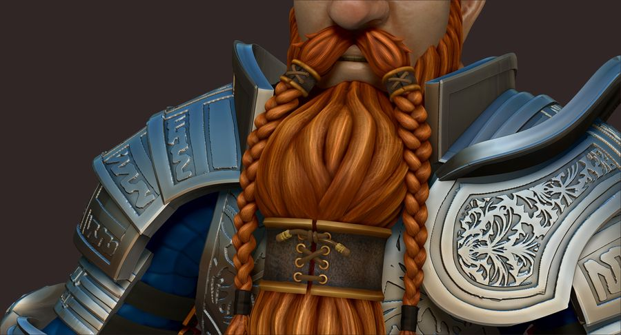 Dwarf Knight D2K3 royalty-free 3d model - Preview no. 13
