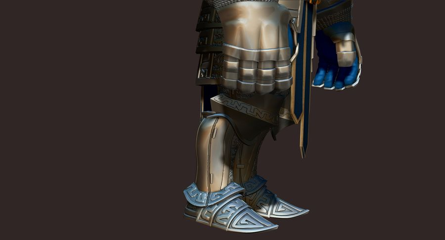 Dwarf Knight D2K3 royalty-free 3d model - Preview no. 6