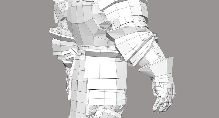 Dwarf Knight D2K3 royalty-free 3d model - Preview no. 32
