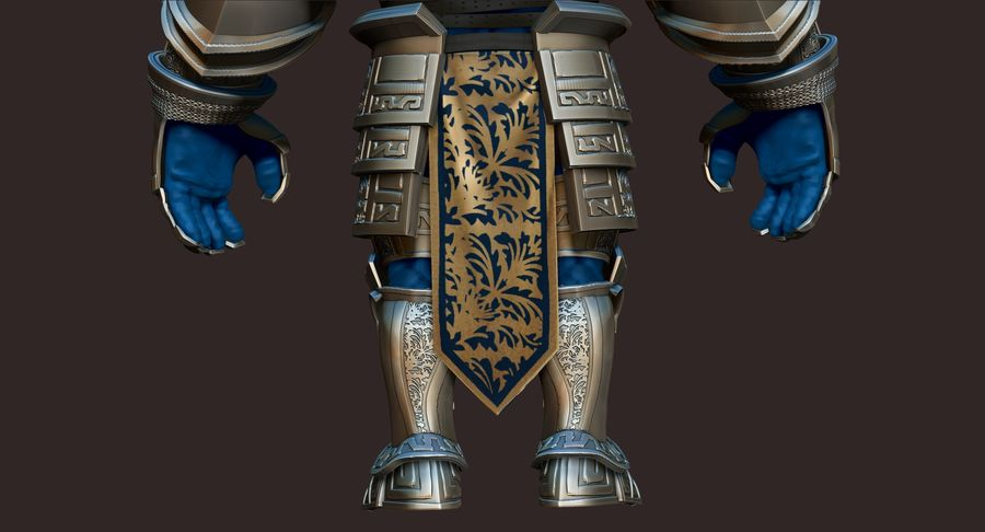 Dwarf Knight D2K3 royalty-free 3d model - Preview no. 11