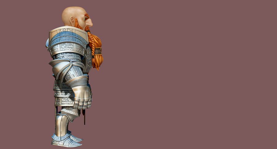 Dwarf Knight D2K3 royalty-free 3d model - Preview no. 19
