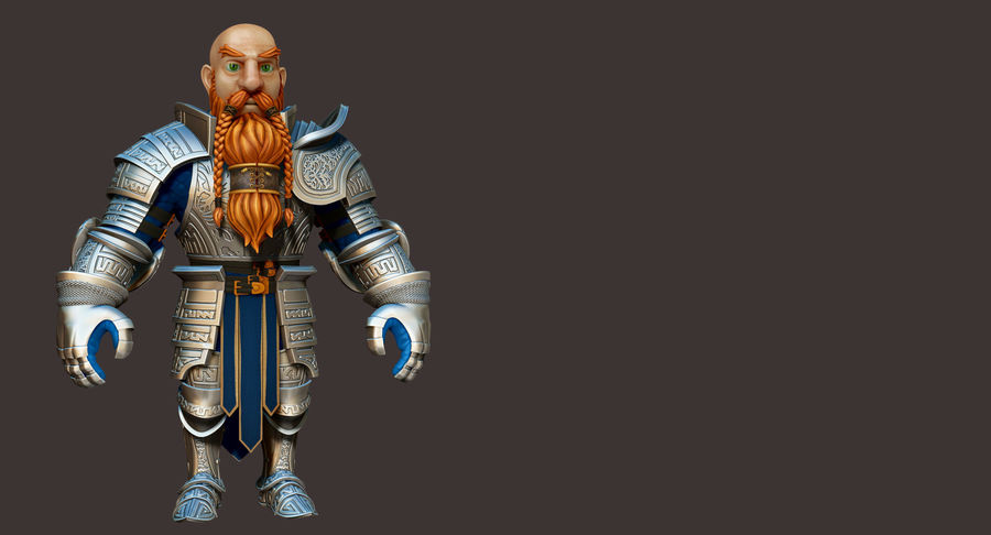 Dwarf Knight D2K3 royalty-free 3d model - Preview no. 16