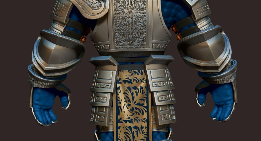 Dwarf Knight D2K3 royalty-free 3d model - Preview no. 10