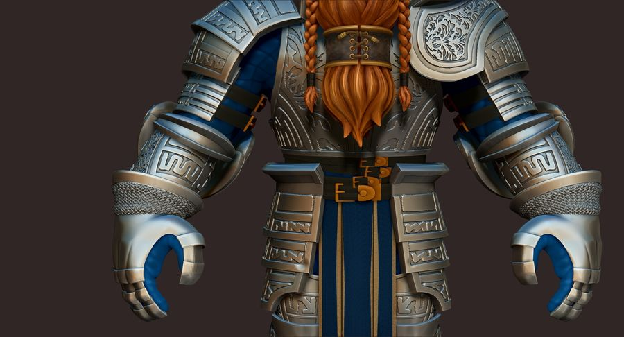 Dwarf Knight D2K3 royalty-free 3d model - Preview no. 4