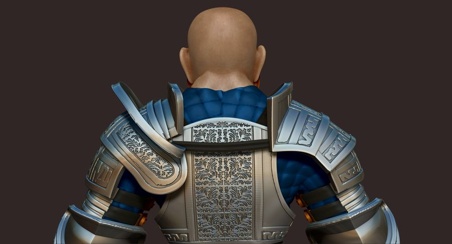 Dwarf Knight D2K3 royalty-free 3d model - Preview no. 9