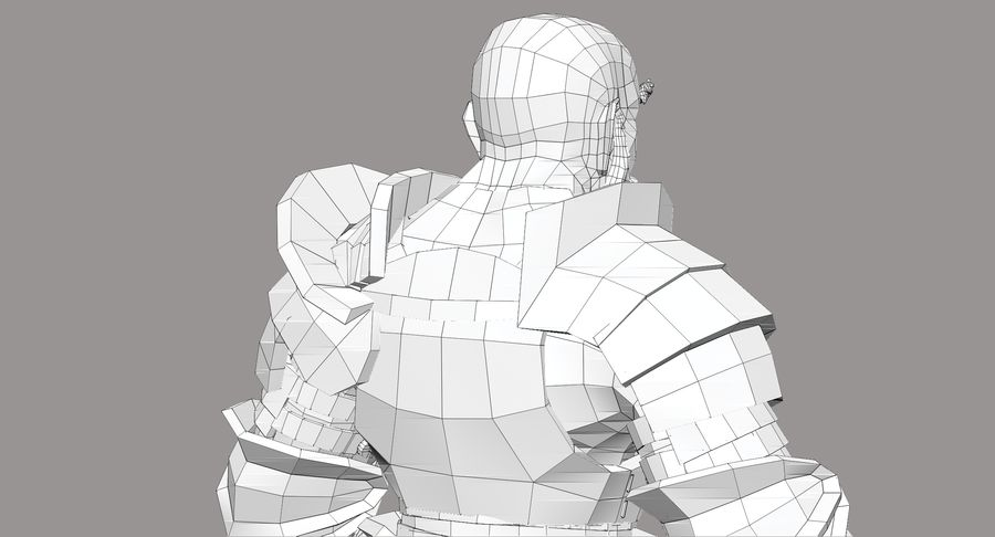 Dwarf Knight D2K3 royalty-free 3d model - Preview no. 31