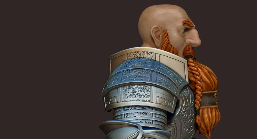 Dwarf Knight D2K3 royalty-free 3d model - Preview no. 8