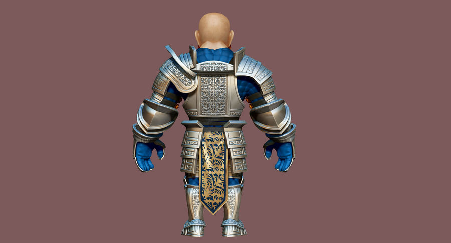 Dwarf Knight D2K3 royalty-free 3d model - Preview no. 20