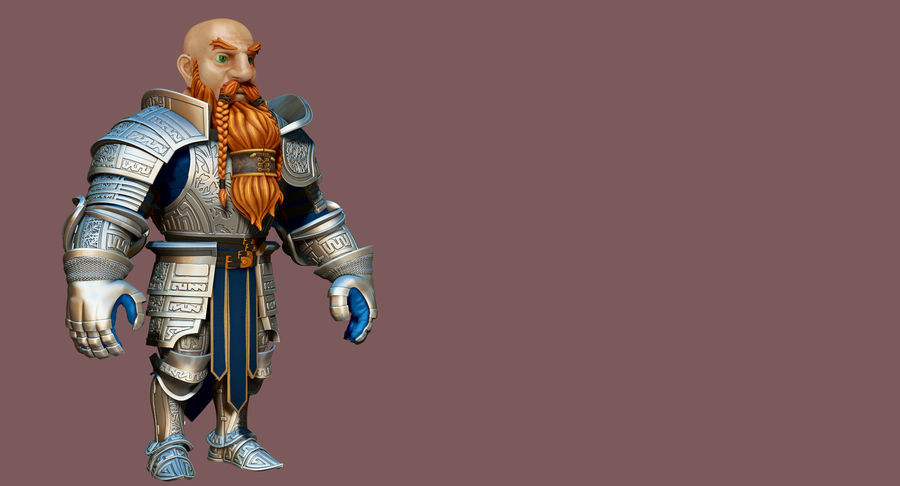 Dwarf Knight D2K3 royalty-free 3d model - Preview no. 17