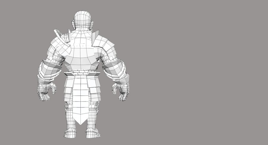 Dwarf Knight D2K3 royalty-free 3d model - Preview no. 25