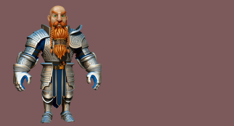 Dwarf Knight D2K3 royalty-free 3d model - Preview no. 15