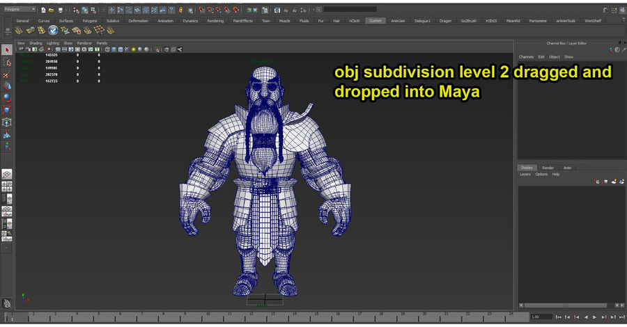 Dwarf Knight D2K3 royalty-free 3d model - Preview no. 45