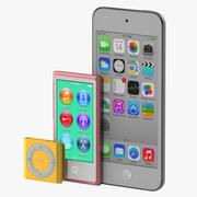 Kolekcja modeli iPoda 3D 3d model