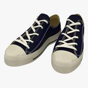 运动鞋蓝色3D模型 3d model