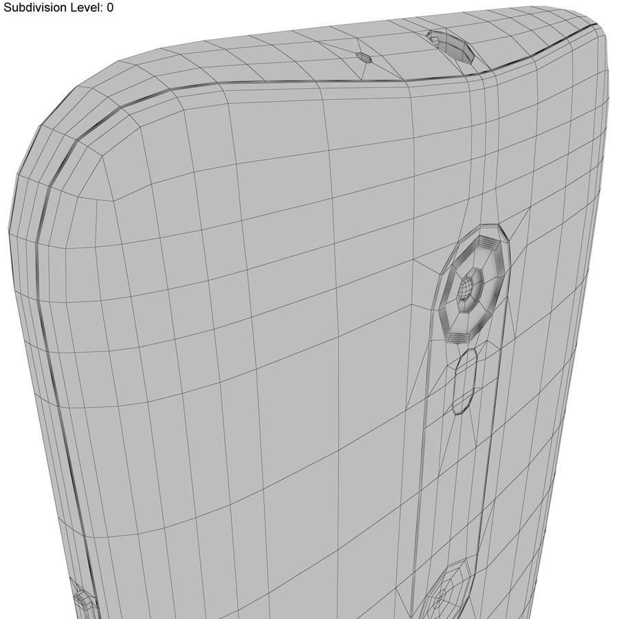 Motorola Moto G 2015 Blanc royalty-free 3d model - Preview no. 21