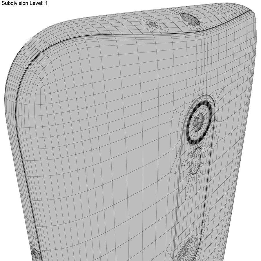Motorola Moto G 2015 Blanc royalty-free 3d model - Preview no. 22