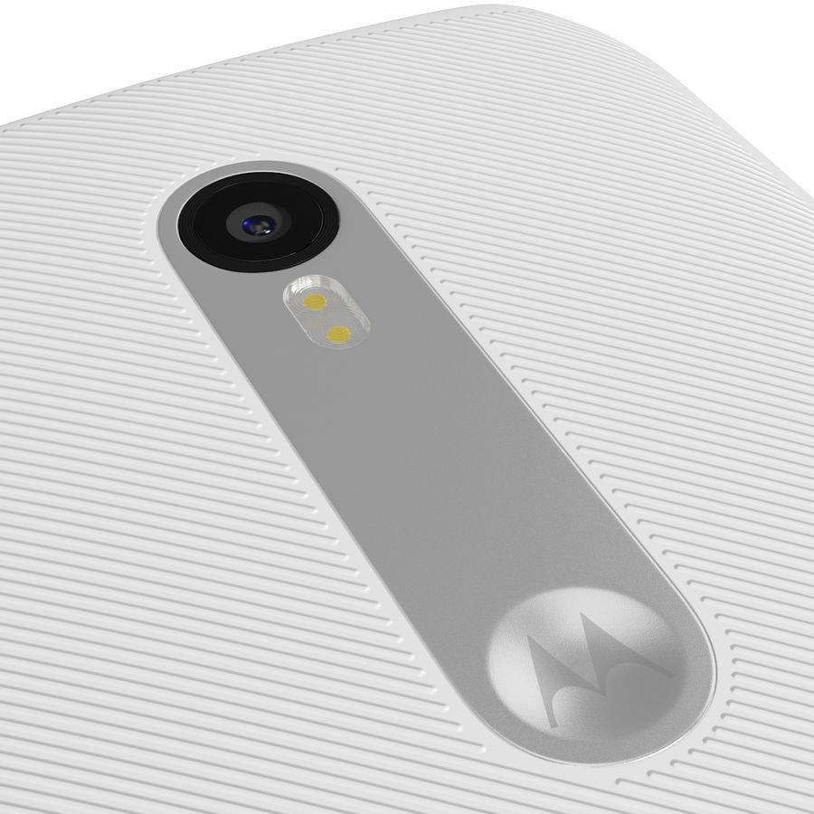 Motorola Moto G 2015 Blanc royalty-free 3d model - Preview no. 13