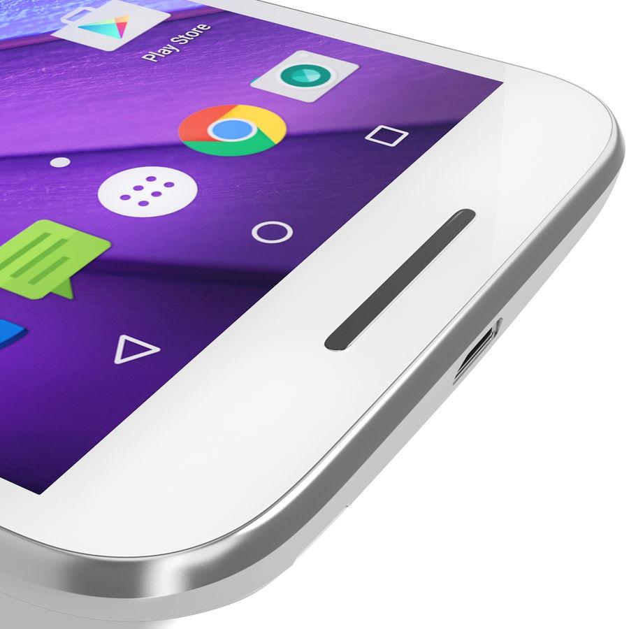 Motorola Moto G 2015 Blanc royalty-free 3d model - Preview no. 15