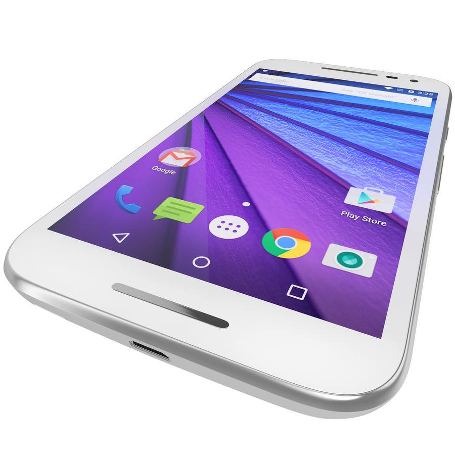 Motorola Moto G 2015 Blanc royalty-free 3d model - Preview no. 12