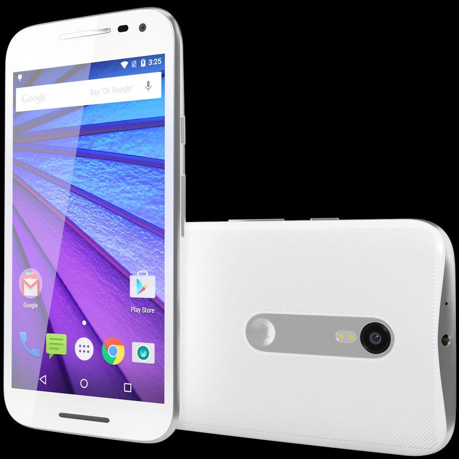 Motorola Moto G 2015 Blanc royalty-free 3d model - Preview no. 2
