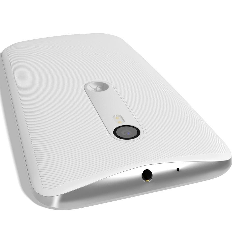 Motorola Moto G 2015 Blanc royalty-free 3d model - Preview no. 7