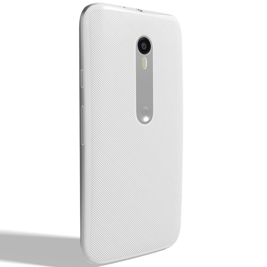 Motorola Moto G 2015 Blanc royalty-free 3d model - Preview no. 4
