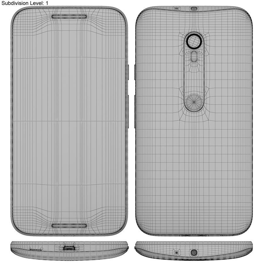 Motorola Moto G 2015 Blanc royalty-free 3d model - Preview no. 18
