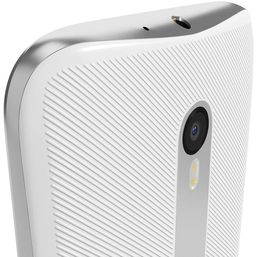 Motorola Moto G 2015 Blanc royalty-free 3d model - Preview no. 6