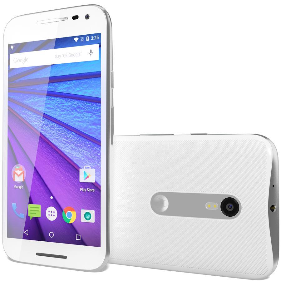 Motorola Moto G 2015 Blanc royalty-free 3d model - Preview no. 3