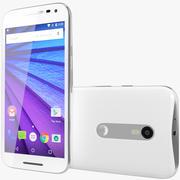 Motorola Moto G 2015 Blanco modelo 3d