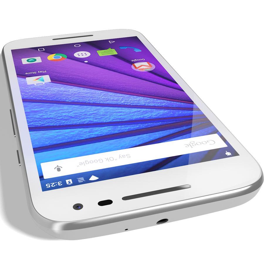 Motorola Moto G 2015 Blanc royalty-free 3d model - Preview no. 11