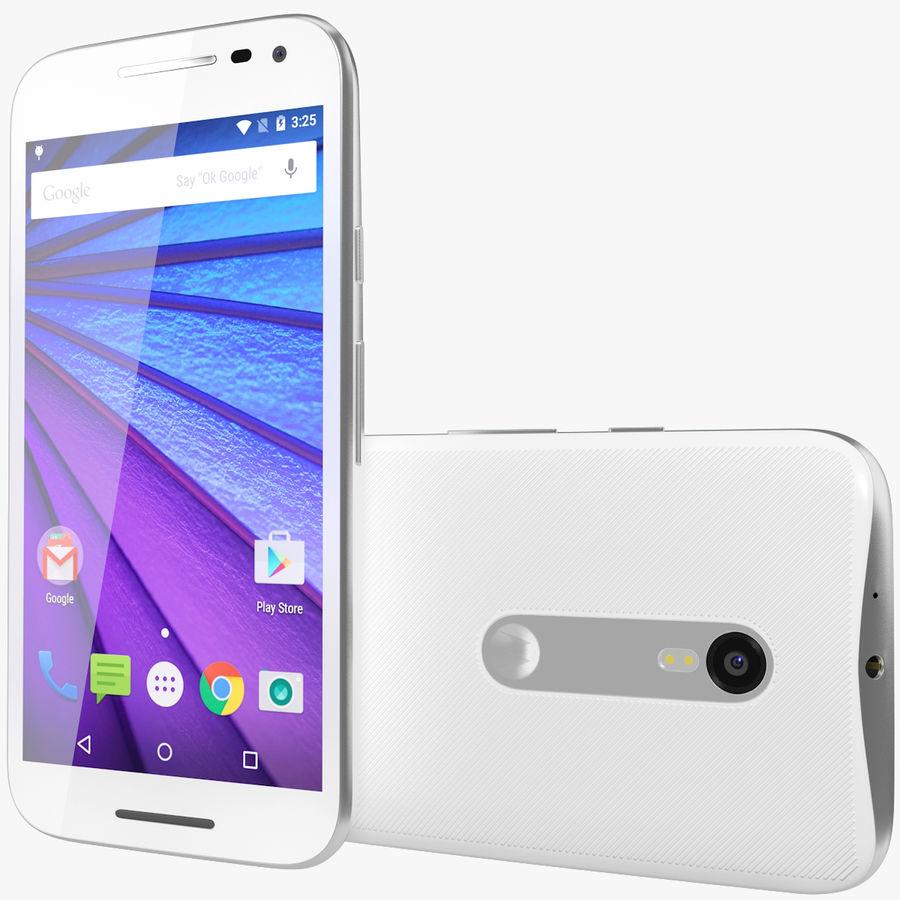 Motorola Moto G 2015 Blanc royalty-free 3d model - Preview no. 1