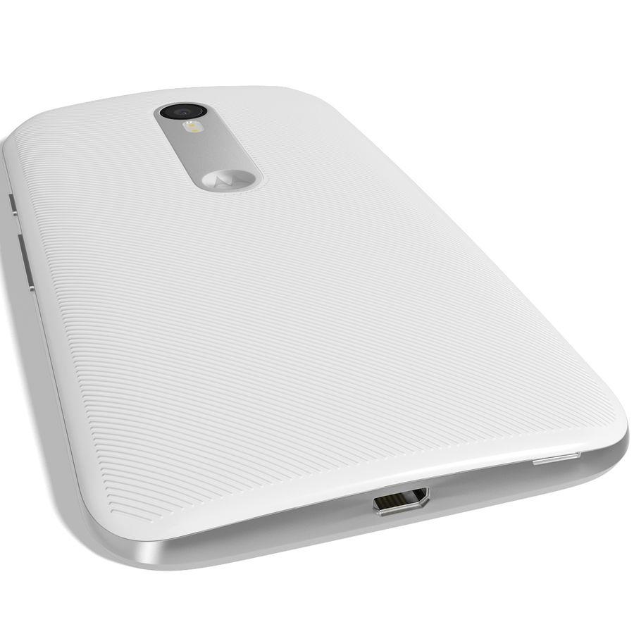 Motorola Moto G 2015 Blanc royalty-free 3d model - Preview no. 8