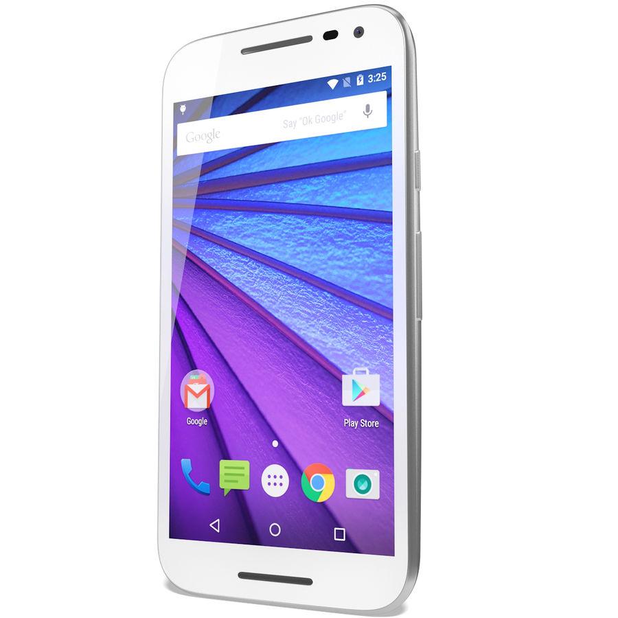 Motorola Moto G 2015 Blanc royalty-free 3d model - Preview no. 5