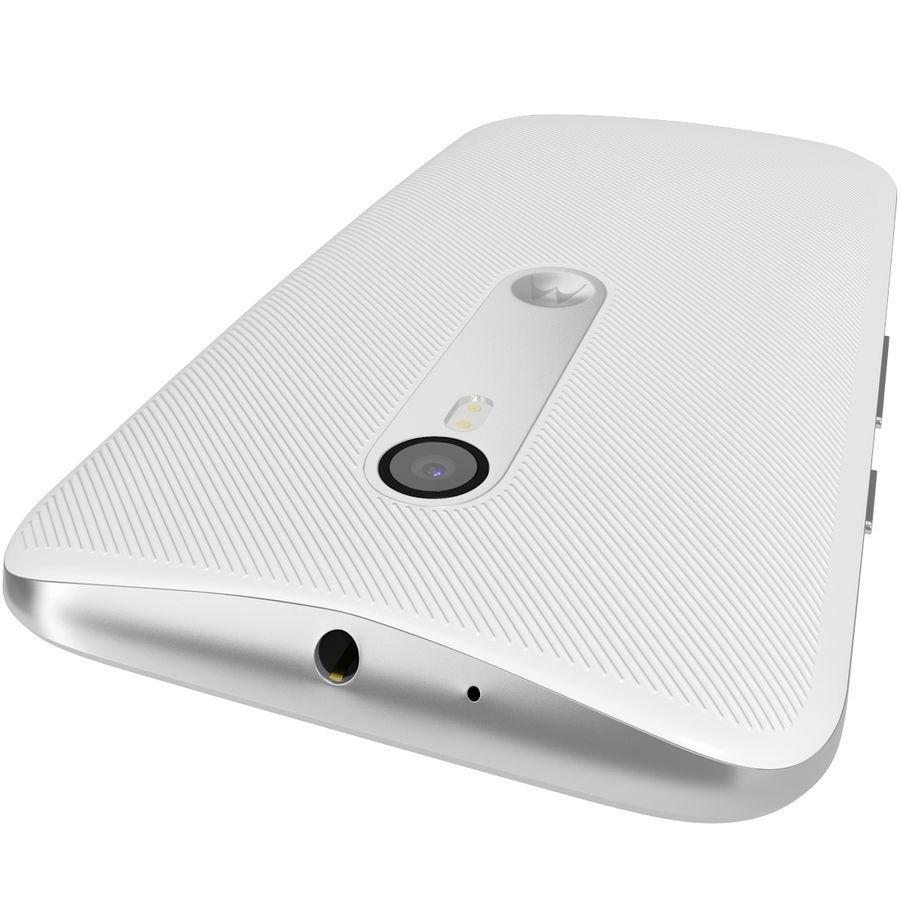 Motorola Moto G 2015 Blanc royalty-free 3d model - Preview no. 9