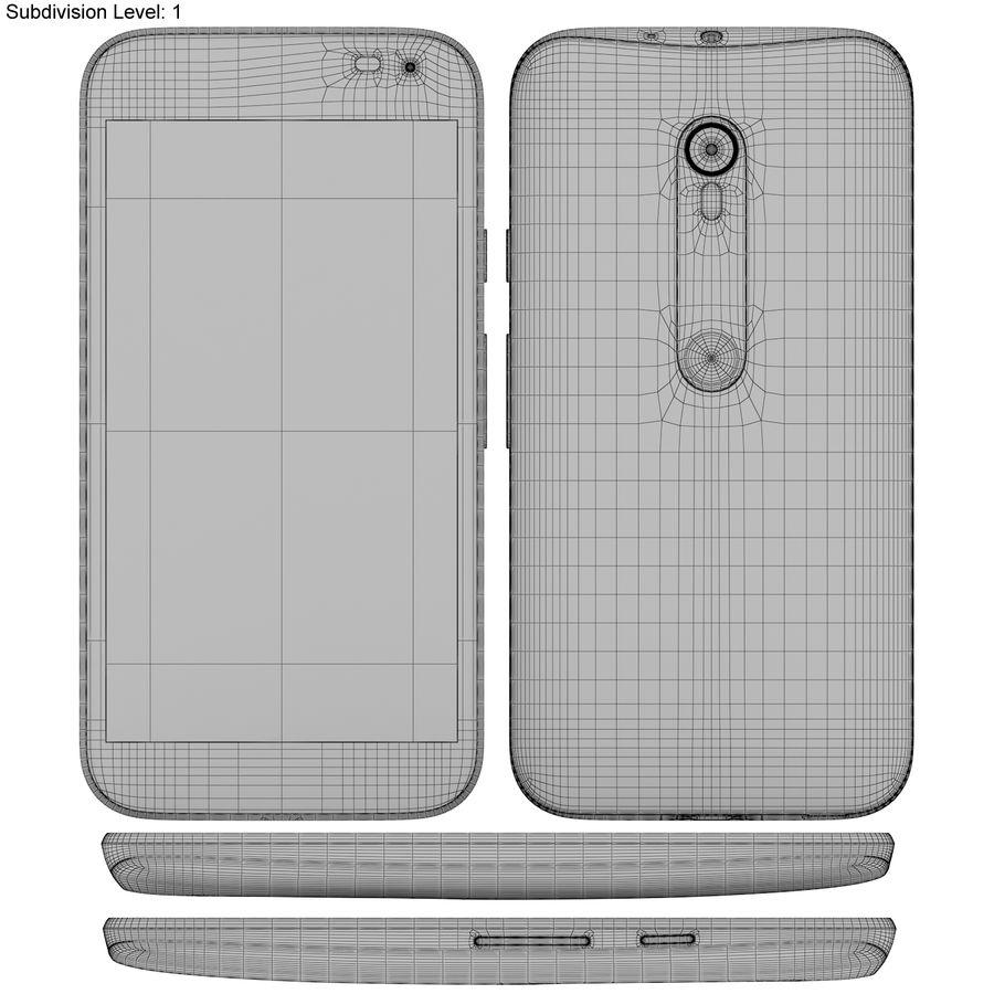 Motorola Moto G 2015 Blanc royalty-free 3d model - Preview no. 20