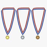 Award Medals 3D Models Set 3d model