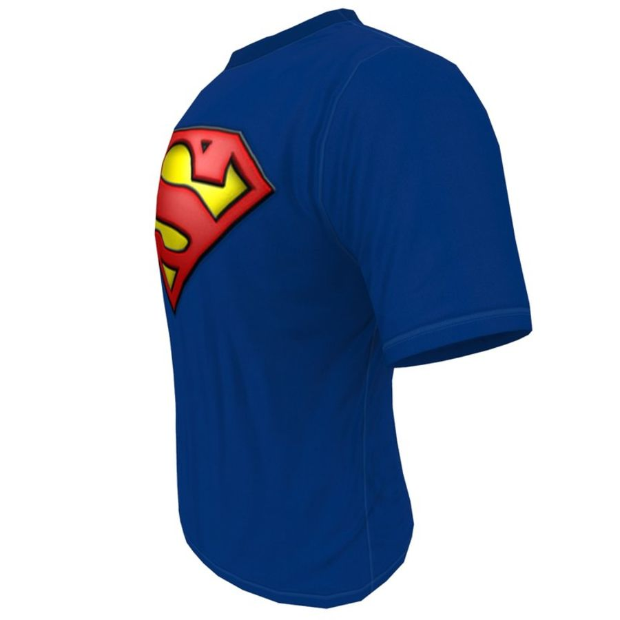 T SHIRT SUPERMAN royalty-free 3d model - Preview no. 3