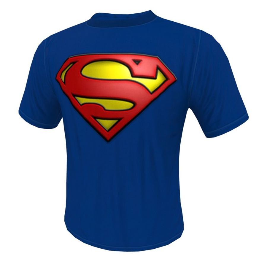 T SHIRT SUPERMAN royalty-free 3d model - Preview no. 1